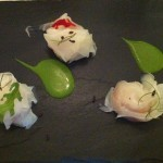 Calamari con salsa di rucola