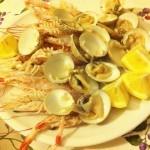 antipasto di scampi e tartufi di mare