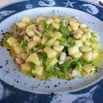 gnocchetti con gallinella e zucchine alla julienne