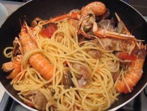 spaghetti+scampi e vongole