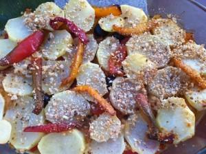 Contorno di peperoni e patate2