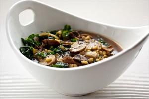 zuppa d'ozo e funghi porcini