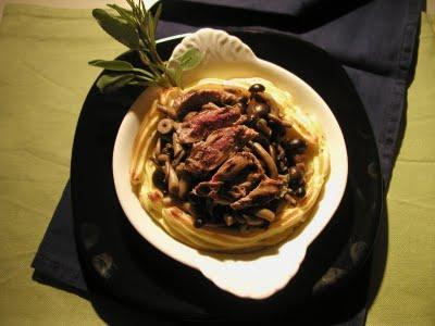 cestino di patate con ripieno di funghi