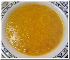 Crema di lenticchie rosse