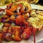 trionfo di astice e verdure crude